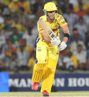 Faf du Plessis works one to the leg side, Chennai Super Kings v Deccan Chargers, IPL, Chennai, May 4, 2012