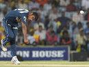 Veer Pratap Singh bowls, Chennai Super Kings v Deccan Chargers, IPL, Chennai, May 4, 2012