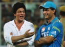Sourav Ganguly and Shah Rukh Khan after the game, Kolkata Knight Riders v Pune Warriors, IPL, Eden Gardens, May 5, 2012