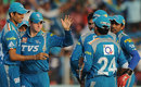 Pune Warriors celebrate an early wicket, Pune Warriors v Rajasthan Royals, IPL, Pune, May 8, 2012