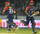 David Warner and Naman Ojha shared an unbeaten 189-run partnership, Deccan Chargers v Delhi Daredevils, IPL, Hyderabad, May 10, 2012