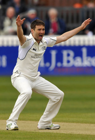 Tim Murtagh appeals for a wicket, Somerset v Middlesex, County Championship, Division One, April 5-8, 2012