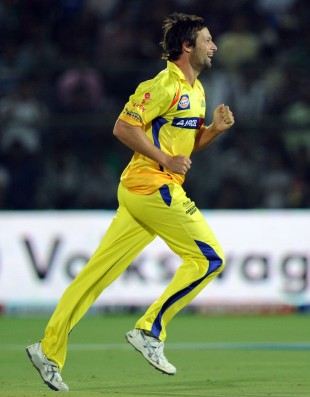 Ben Hilfenhaus took 2 for 8 in his four overs, Rajasthan Royals v Chennai Super Kings, IPL, Jaipur, May 10, 2012