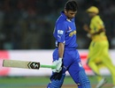 Rahul Dravid was dismissed for 4, Rajasthan Royals v Chennai Super Kings, IPL, Jaipur, May 10, 2012