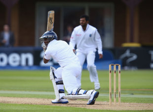 Michael Carberry drives during his innings of 32, England Lions v West Indians, Tour Match, 2nd day, Northampton, May 11, 2012