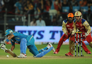 Robin Uthappa slips while playing a shot, Pune Warriors v Royal Challengers Bangalore, IPL, Pune, May 11, 2012