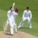Darren Bravo helped West Indians put on a hundred partnership for the fourth wicket, England Lions v West Indians, Tour Match, 3rd day, Northampton, May 12, 2012