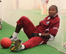Fidel Edwards has a quiet moment during indoor training
