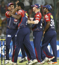 Varun Aaron dismissed Shaun Marsh with his first ball, Delhi Daredevils v Kings XI Punjab, IPL, Delhi, May 15, 2012