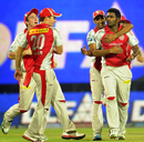 Parwinder Awana is congratulated after the wicket of Ross Taylor , Delhi Daredevils v Kings XI Punjab, IPL 2012, Delhi, May 15, 2012