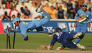 Dinesh Karthik stumps Michael Vaughan, England v India, 3rd ODI, Lord's, London, September 5, 2004