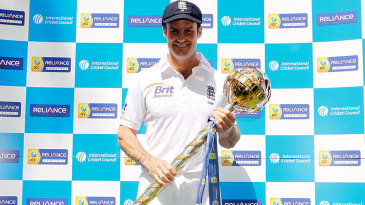 Andrew Strauss was presented with the Test mace for the No. 1 team