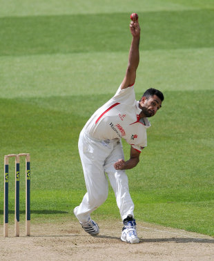Ajmal Shahzad was one of the Lancashire bowlers to struggle early on, Warwickshire v Lancashire, County Championship, Division One, 1st day, Edgbaston, May 16, 2012