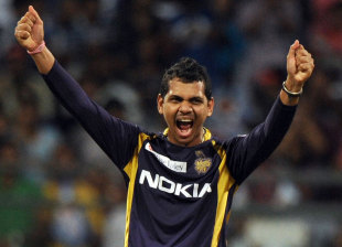 Sunil Narine was outstanding yet again, Mumbai Indians v Kolkata Knight Riders, IPL, Mumbai, May 16, 2012