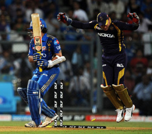 Sachin Tendulkar was bamboozled by an offbreak from Sunil Narine, Mumbai Indians v Kolkata Knight Riders, IPL, Mumbai, May 16, 2012