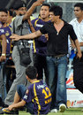 Shah Rukh Khan tries to make his way into the field, Mumbai Indians v Kolkata Knight Riders, IPL, Mumbai, May 16, 2012