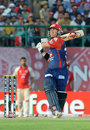 David Warner hits out on his way to 79 off 44, Kings XI Punjab v Delhi Daredevils, IPL, Dharamsala, May 19, 2012