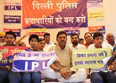 Former India offspinner Kirti Azad goes on a hunger strike outside Feroz Shah Kotla to protest the IPL, Delhi, May 20, 2012