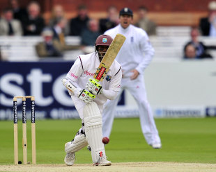 Shivnarine Chanderpaul continued his defiance, England v West Indies, 1st Test, Lord's, 4th day, May 20, 2012