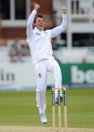 Graeme Swann was the bowler to finally shift Shivnarine Chanderpaul, England v West Indies, 1st Test, Lord's, 4th day, May 20, 2012