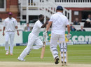 Jonathan Trott edged to slip off Kemar Roach
