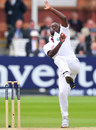 Kemar Roach raced in against England's top order