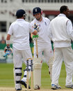 Ian Bell hands debutant Jonny Bairstow a stump in victory, England v West Indies, 1st Test, Lord's, 5th day, May 21, 2012