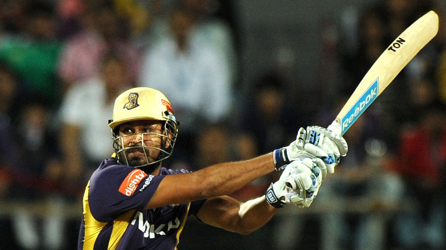 Yusuf Pathan powers one away during a handy cameo