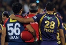 The Pathan brothers, Irfan and Yusuf, Delhi Daredevils v Kolkata Knight Riders, 1st qualifier, IPL 2012, Pune, May 22, 2012