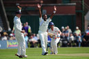 Steven Moore survives an appeal from Corey Collymore, Lancashire v Middlesex, Liverpool, May, 23, 2012