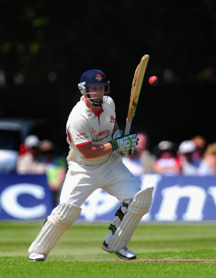 Steven Croft batting with Lancashire in trouble, Lancashire v Middlesex, Liverpool, May, 23, 2012