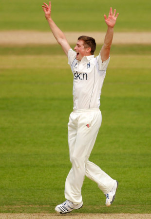 Chris Woakes took 2 for 53 in his second match of the season, Surrey v Warwickshire, The Oval, May, 23, 2012