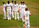There was confusion as Warwickshire appealed for Jon Lewis' wicket, Surrey v Warwickshire, The Oval, May, 23, 2012