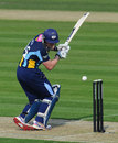 Andrew Gale takes a blow on the helmet, Sussex v Yorkshire, Clydesdale Bank 40, Group C, Hove, May 24, 2012