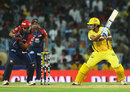M Vijay cuts during his half-century, Delhi Daredevils v Chennai Super Kings, 2nd eliminator, IPL 2012, Chennai, May 25, 2012