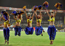Super Kings' cheerleaders celebrate the team's victory, Delhi Daredevils v Chennai Super Kings, 2nd eliminator, IPL 2012, Chennai, May 25, 2012