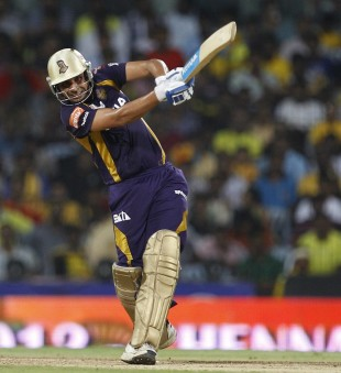 Manvinder Bisla goes on the attack, Kolkata Knight Riders v Chennai Super Kings, IPL 2012, final, Chennai, May 27, 2012
