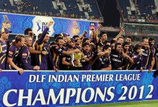 Kolkata Knight Riders celebrate their maiden IPL title after beating Chennai Super Kings in a tense last-over finish