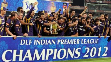 Kolkata Knight Riders with their first IPL trophy