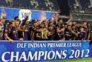 Kolkata Knight Riders with their first IPL trophy, Kolkata Knight Riders v Chennai Super Kings, IPL 2012, final, Chennai, May 27, 2012