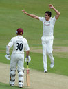 Mitchell Starc trapped Rob White lbw, Yorkshire v Northamptonshire, County Championship, Division Two, May 30, 2012