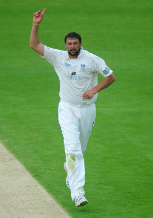 Steve Harmison celebrates a wicket, Durham v Lancashire, County Championship, Division One, Chester-le-Street, 2nd day, May 31, 2012