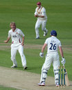 Oli Stone claims his maiden first-class wicket, Yorkshire v Northamptonshire, County Championship, Division Two, 2nd day, May 31, 2012