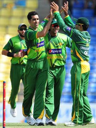 Umar Gul was the most incisive of the Pakistan seamers with three wickets