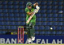 Umar Akmal taps one onto the leg side, Sri Lanka v Pakistan, 1st ODI, Pallekele, June 7, 2012