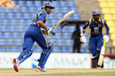 Tillakaratne Dilshan sets off on a run