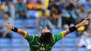 Shahid Afridi is ecstatic after claiming Dinesh Chandimal