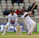 Adrian Barath launches Graeme Swann for six, England v West Indies, 3rd Test, Edgbaston, 3rd day, June 9, 2012