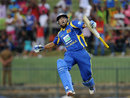 Tillakaratne Dilshan leaps after completing his hundred