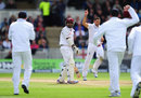 Assad Fudadin was bounced out by Tim Bresnan, England v West Indies, 3rd Test, Edgbaston, 3rd day, June 9, 2012